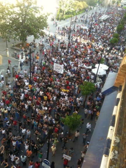 Manifestación 15M Sevilla
