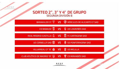 Sorteo playoff ascenso a Segunda y Segunda B: cruces y partidos - AS.com