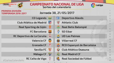 Calendario Real Madrid Liga.Sorteo Del Calendario De Laliga 2016 2017 En Directo Online As Com