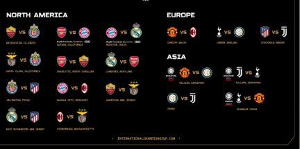 Calendario Champion Inter.Asi Queda El Sorteo De La International Champions Cup 2019