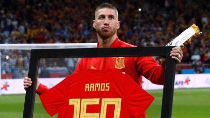 Sergio Ramos fue el gran protagonista en los instantes previos del  Argentina-España 997e3732c1b80